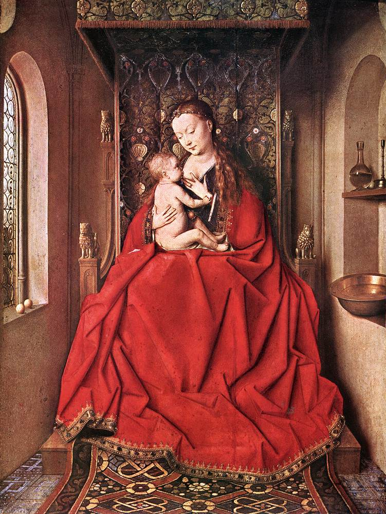 Suckling Madonna Enthroned