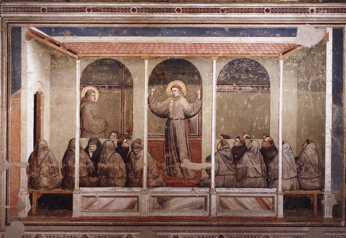 Scenes from the Life of Saint Francis: 3. Apparition at Arles