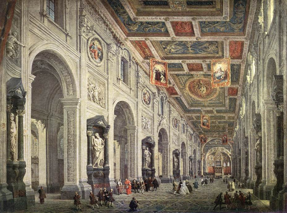 Interior of the San Giovanni in Laterano in Rome
