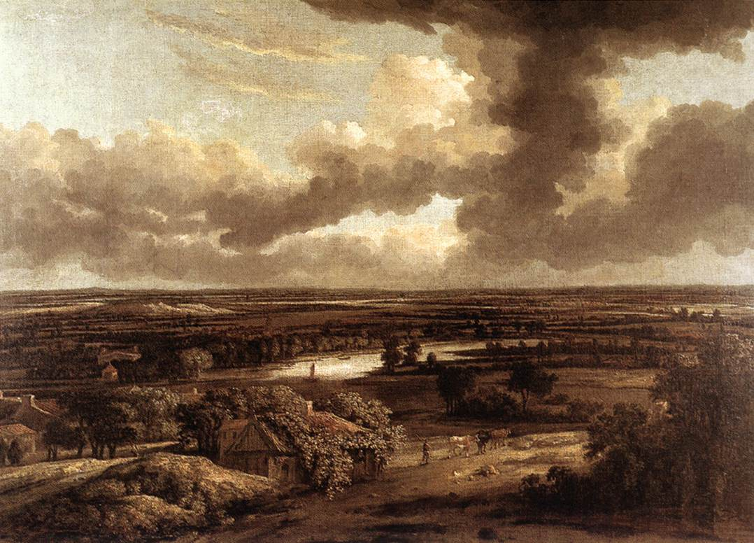 Dutch Landscape Viewed from the Dunes