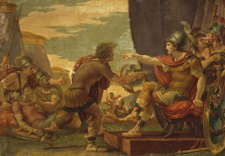 Alexander the Great Refuses to Take Water