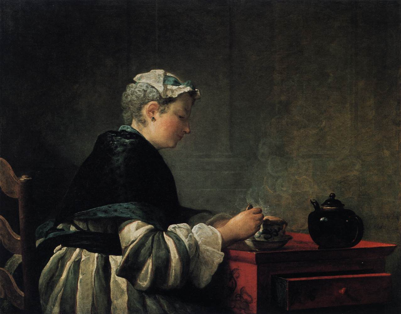 Woman Taking Tea