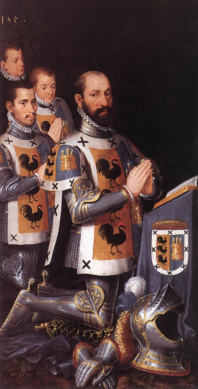 Portrait of Jan Lopez Gallo and His Three Sons
