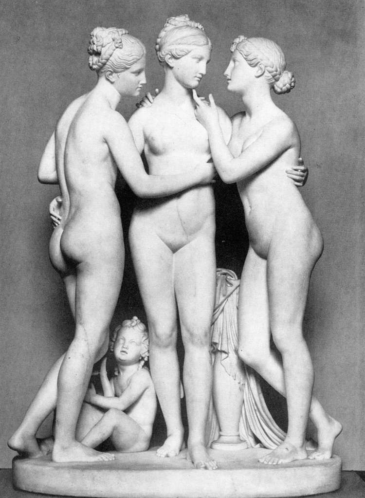 The Three Graces with Cupid