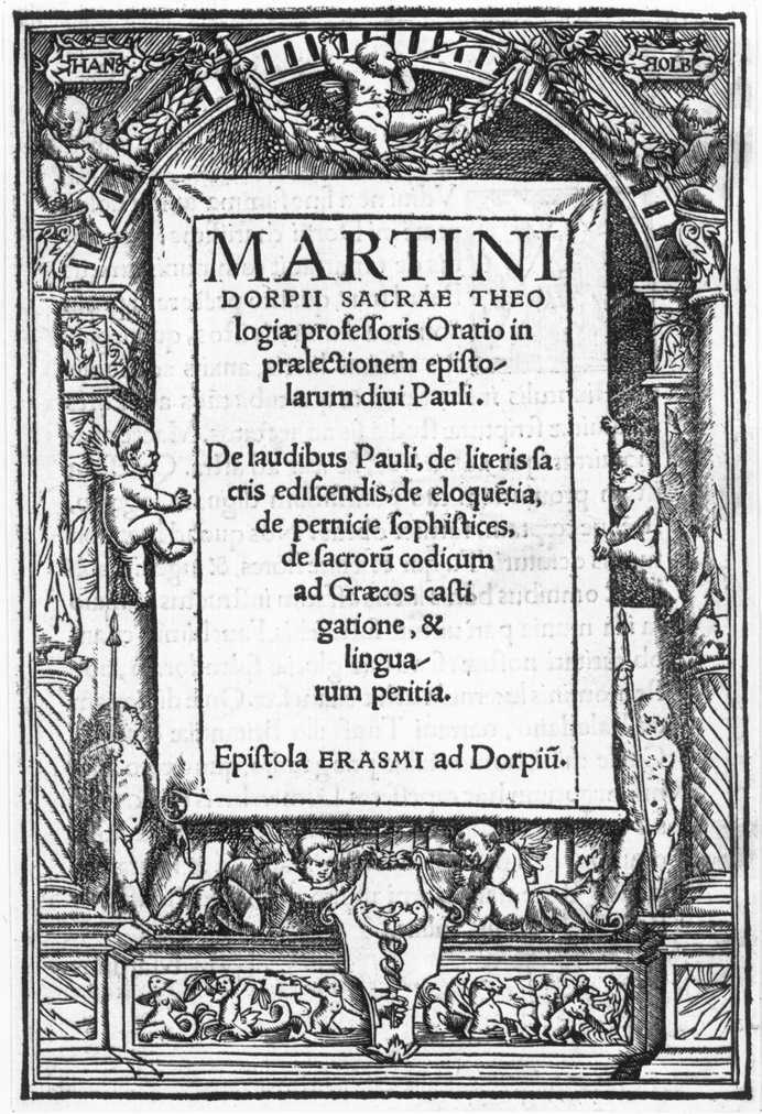 Title page in the form of a Renaissance niche