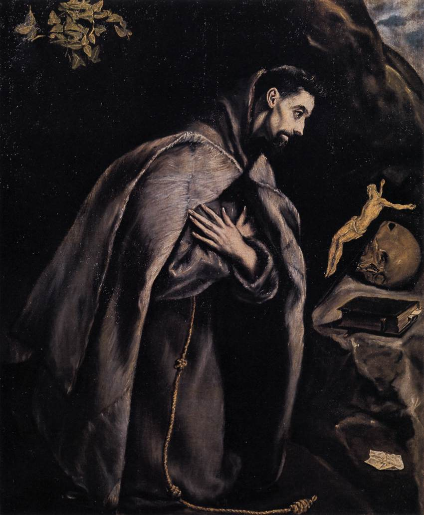 St Francis in Prayer before the Crucifix