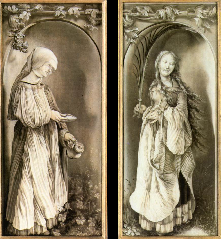 St Elizabeth and a Saint Woman with Palm