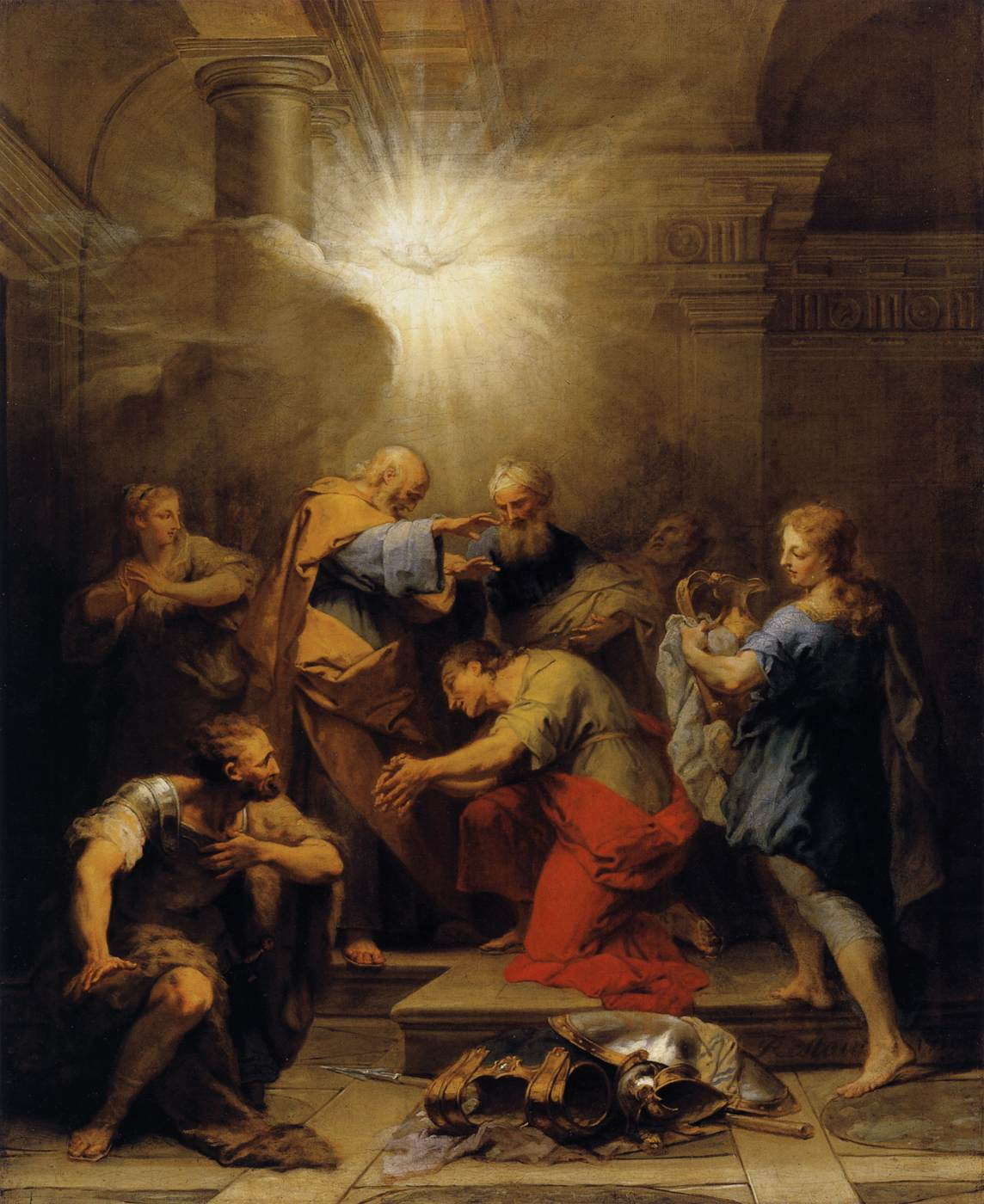 Ananias Restoring the Sight of St Paul