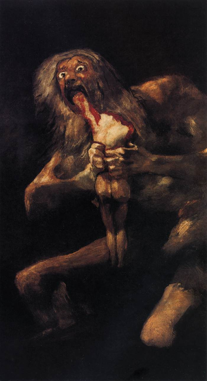 Saturn Devouring One of his Children