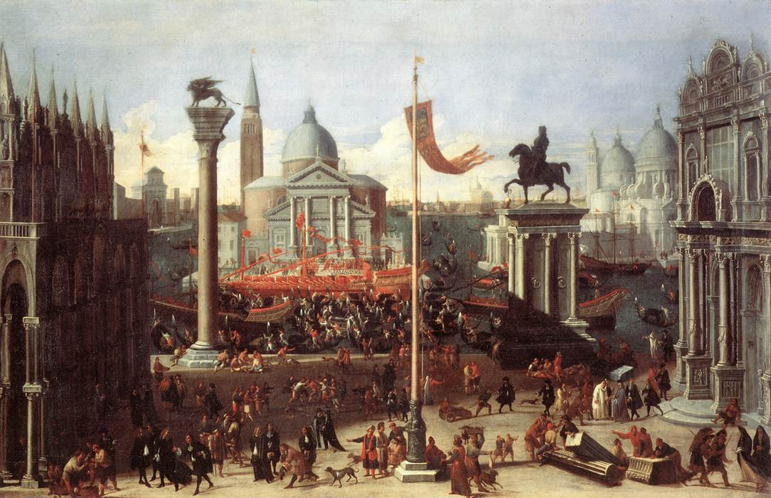 Imaginary Scene with Venetian Buildings