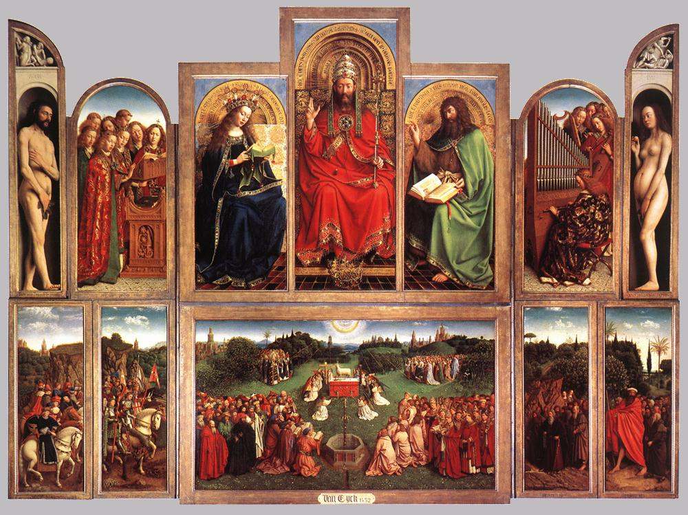 The Ghent Altarpiece (wings open)