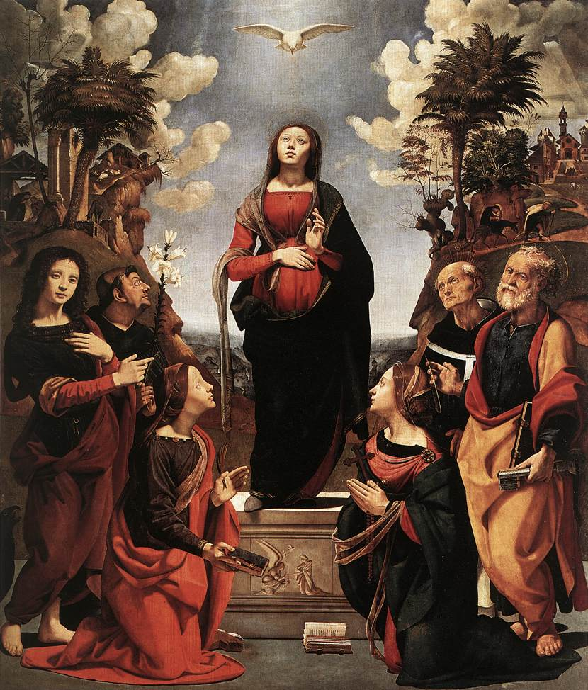 Immaculate Conception with Saints