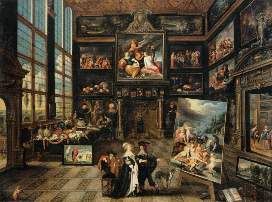 Interior of a Collector's Gallery of Paintings and Objets d'Art