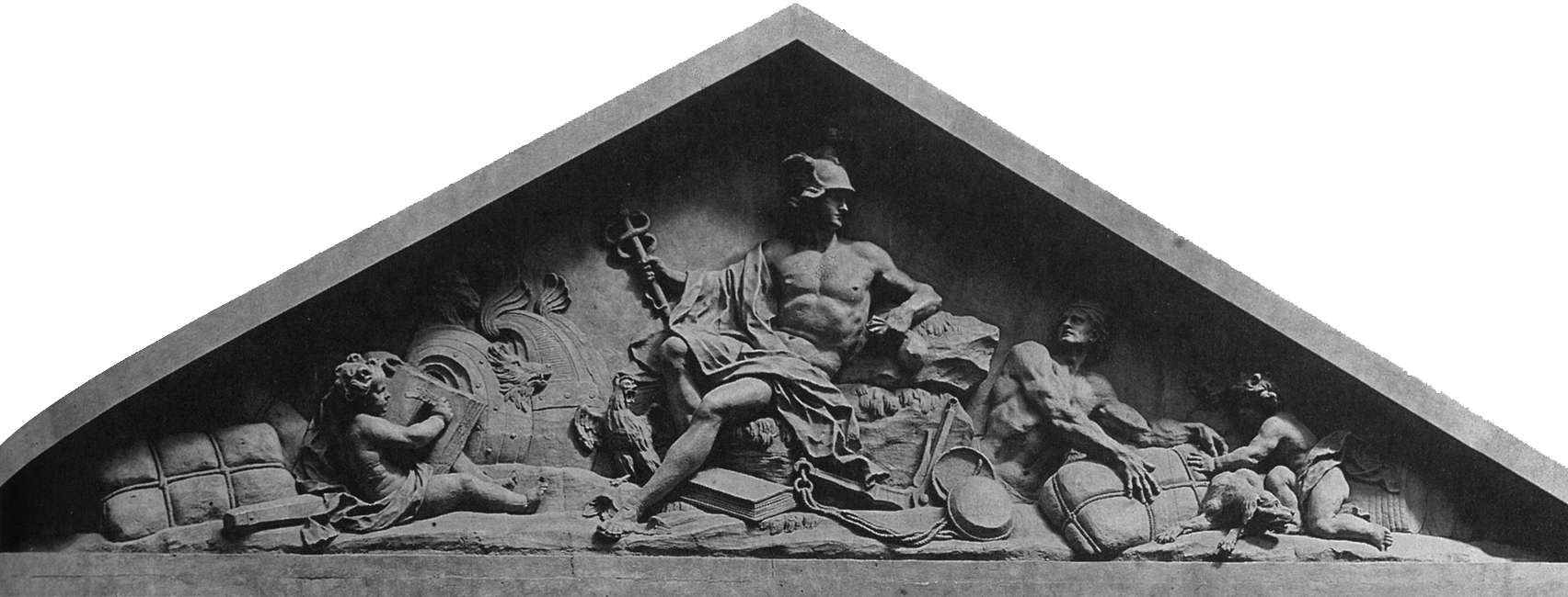 Pediment of the Custom House
