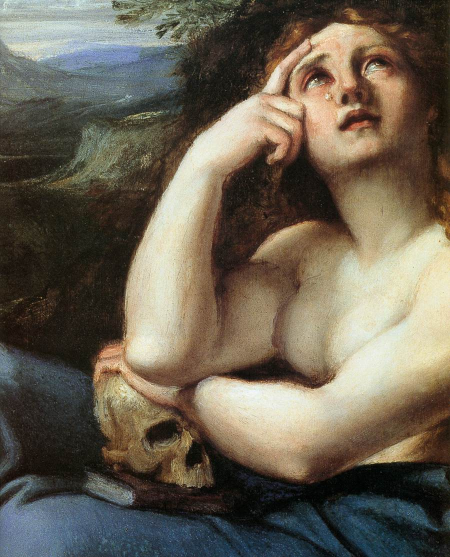 The Penitent Magdalen in a Landscape (detail)