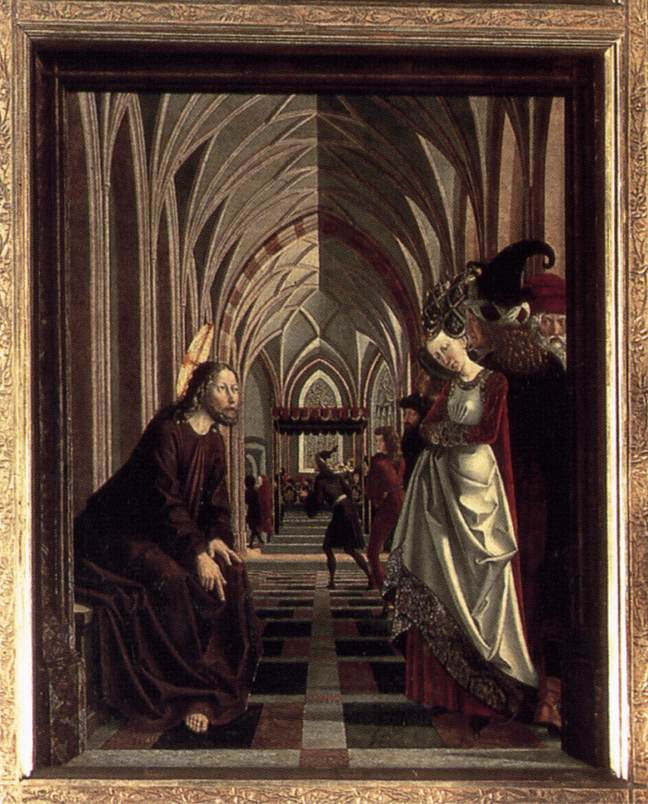 St Wolfgang Altarpiece: Christ and the Adulteress