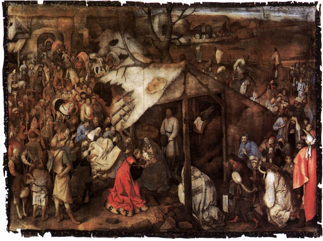Bruegel, the adoration of the kings