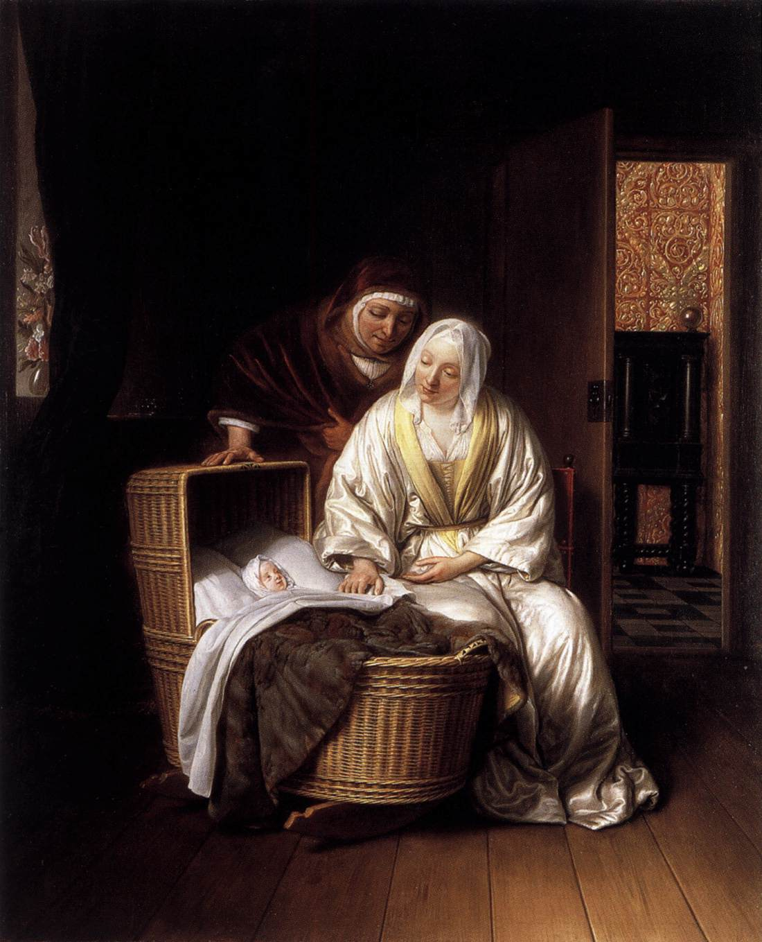 Two Women by a Cradle