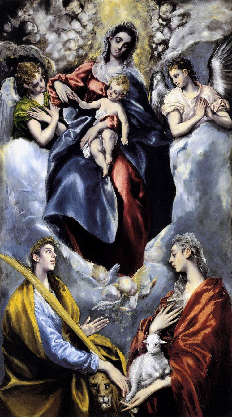 The Virgin and Child with St Martina and St Agnes