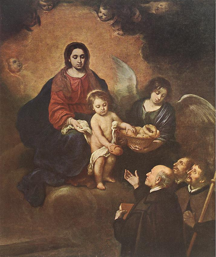 The Infant Jesus Distributing Bread to Pilgrims