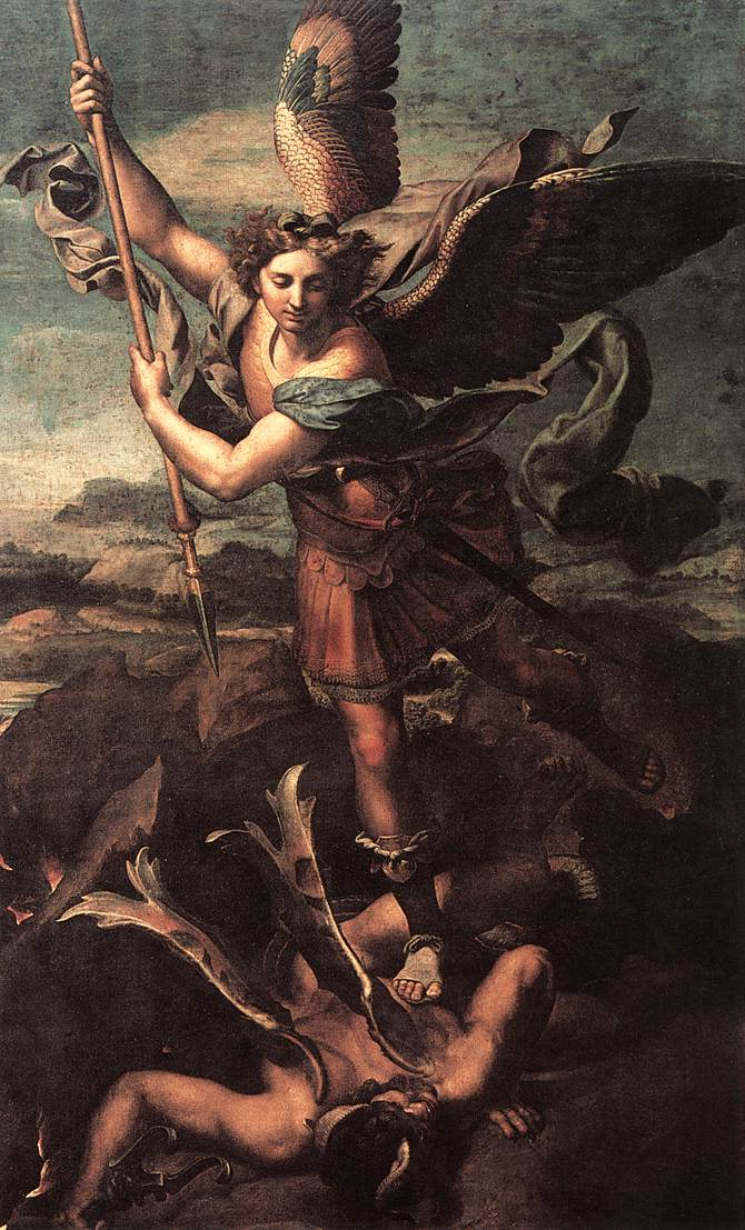 St Michael and the Satan