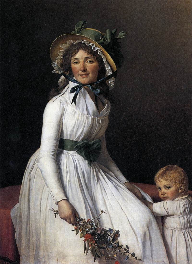 Portrait of Emilie S�riziat and her Son
