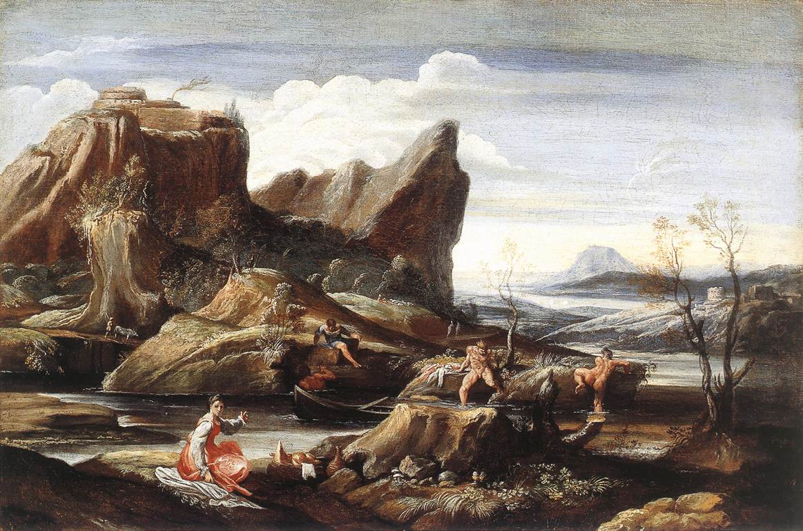Landscape with Bathers