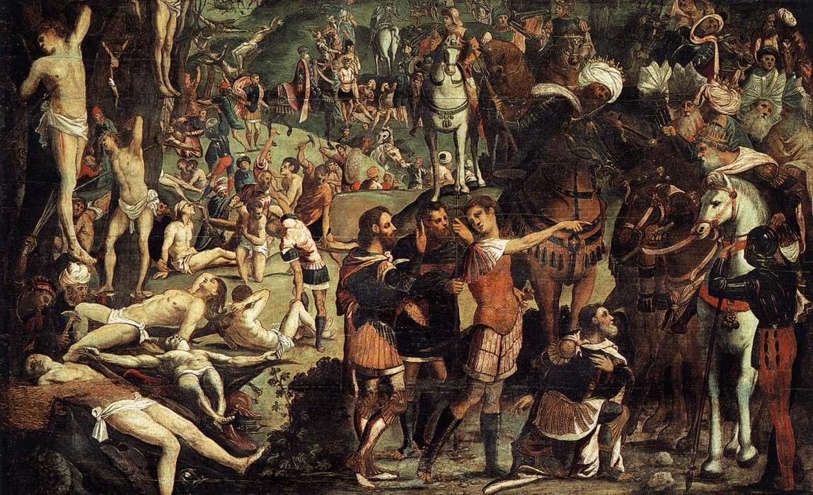 Tintoreto 39882-the-martyrdom-of-the-ten-thousand-fragment-tintoretto