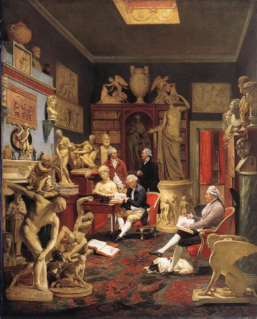 Charles Towneley in his Sculpture Gallery