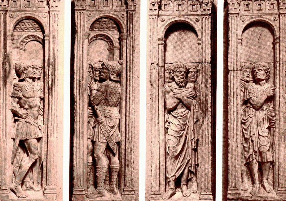 Four reliefs with the trials of Saint Paul