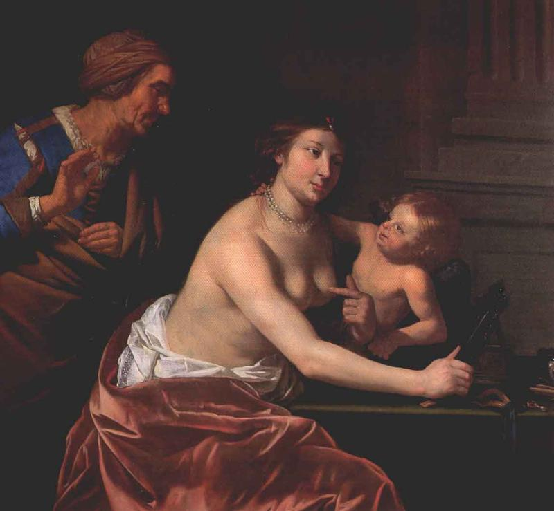 Venus and Amor and an old Woman