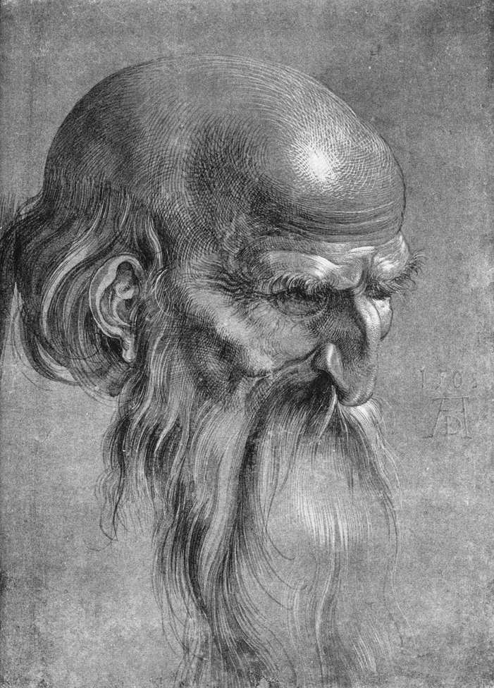 Head of an Apostle Looking Downward
