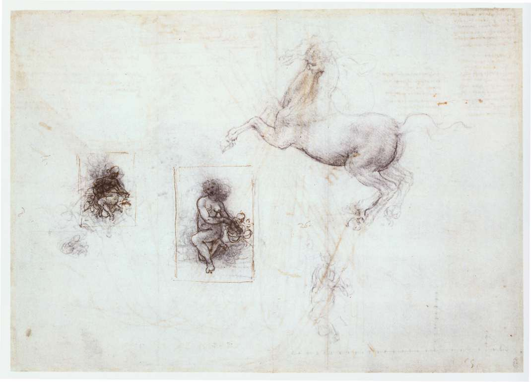 Studies of Leda and a horse