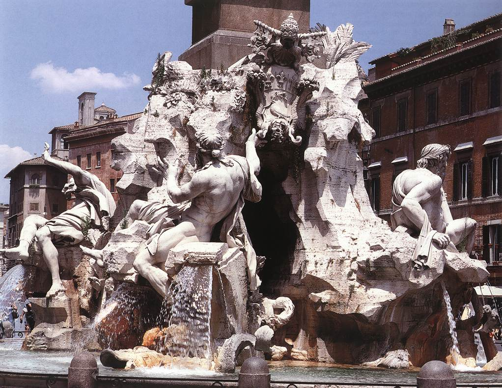 fountain of the four rivers by bernini gian lorenzo fountain of the