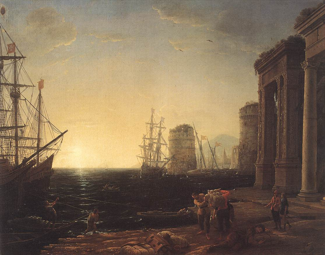 Harbour Scene at Sunset