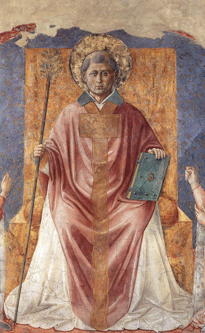 St Fortunatus Enthroned