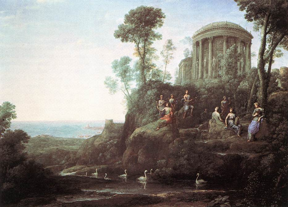 Apollo and the Muses on Mount Helion (Parnassus)