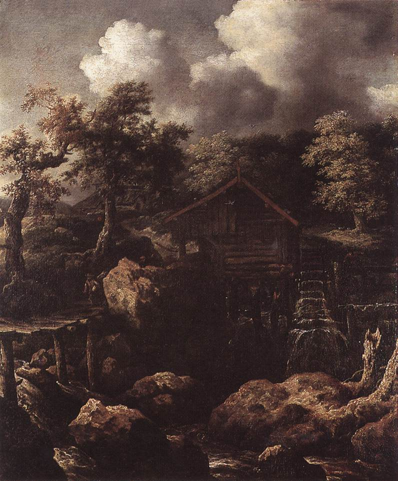Forest Scene with Water-Mill
