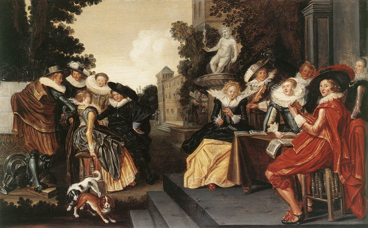 Music-Making Company on a Terrace