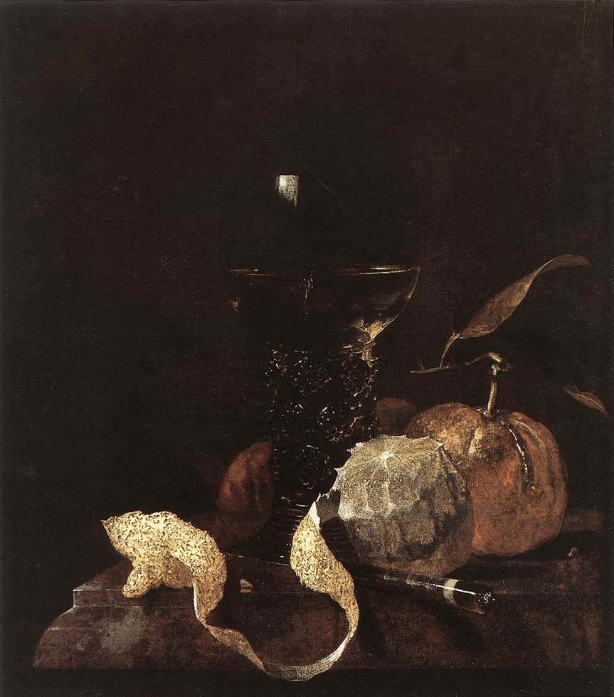 Still-Life with Lemon, Oranges and Glass of Wine