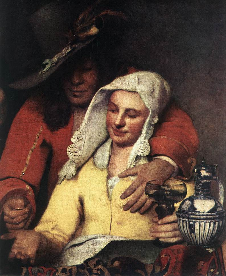 johannes vermeer the procuress and woman It is about a young girl overwhelmed by feeling, a young girl in the fraction of an  instant  jan vermeer, girl with a pearl earring (detail), 1665  the procuress.