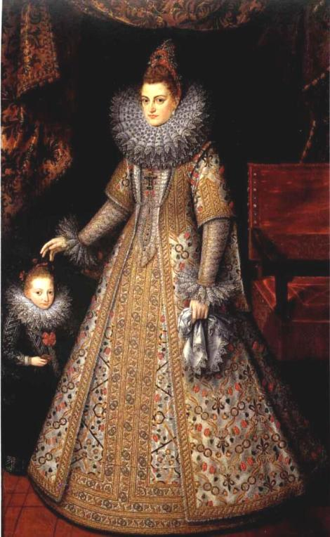 Portrait of Isabella Clara Eugenia of Austria with her Dwarf