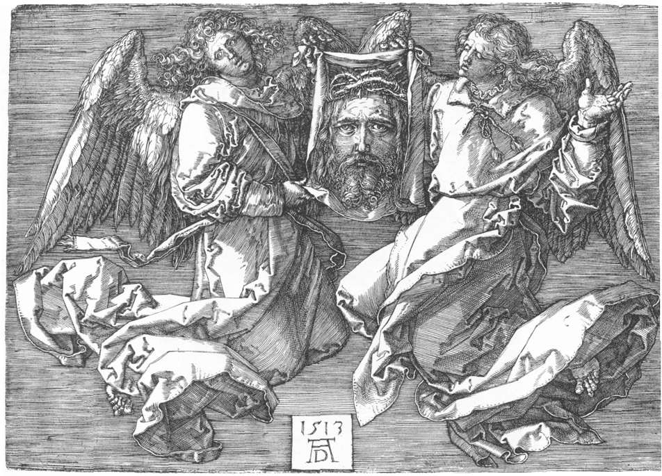 Sudarium Displayed by Two Angels