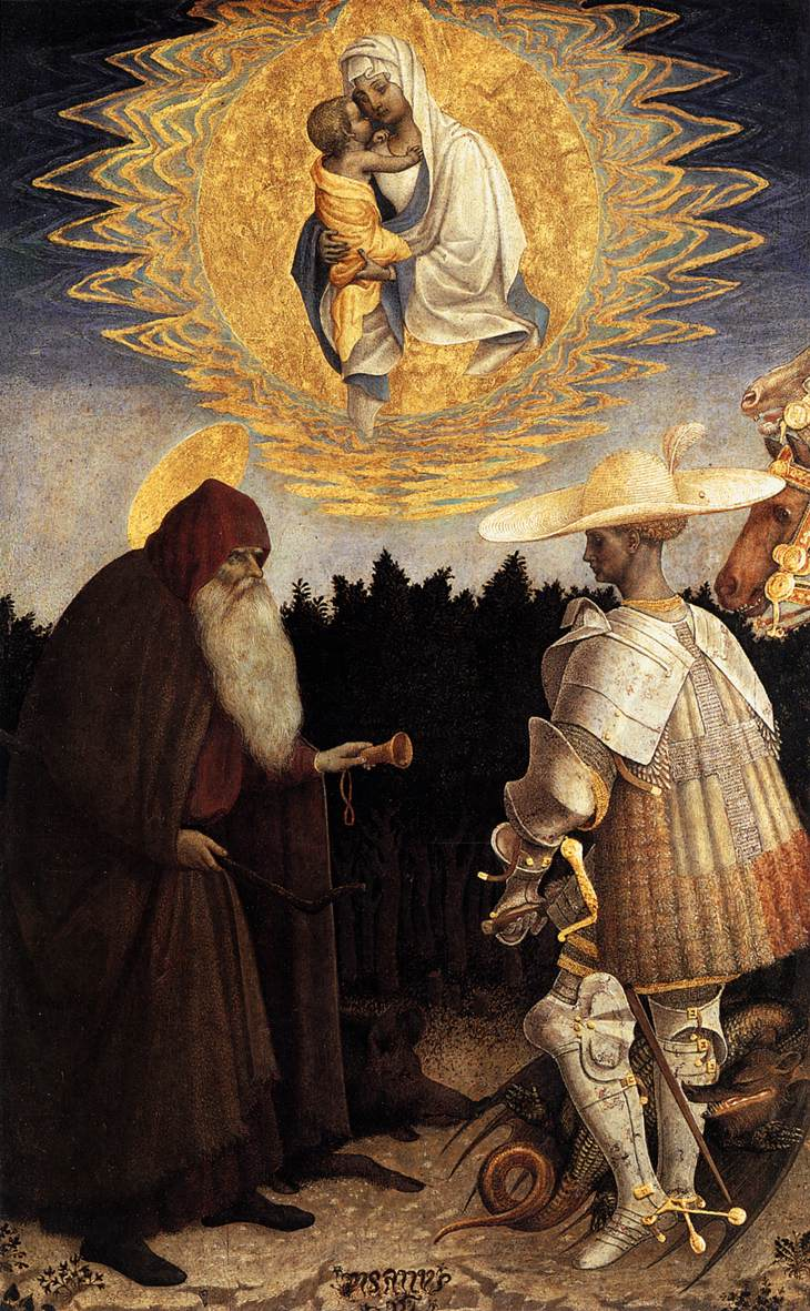 Apparition of the Virgin to Sts Anthony Abbot and George
