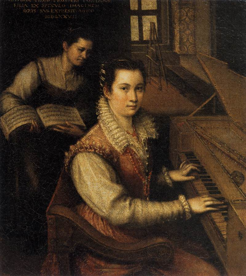 Self-Portrait at the Spinet