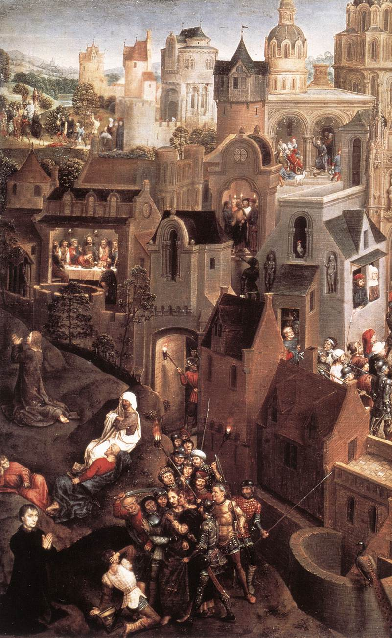 Scenes from the Passion of Christ (left side)