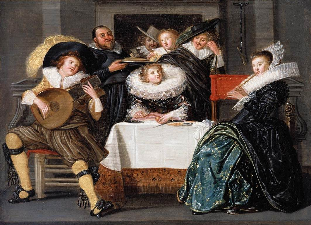 A Merry Company Making Music