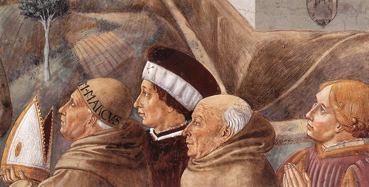 Scenes from the Life of St Francis (detail of scene 7, south wall)