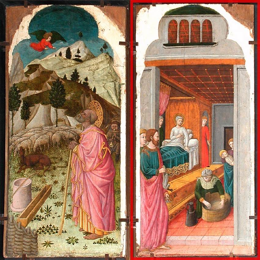 The Angel Appearing to Joachim; The Birth of the Virgin