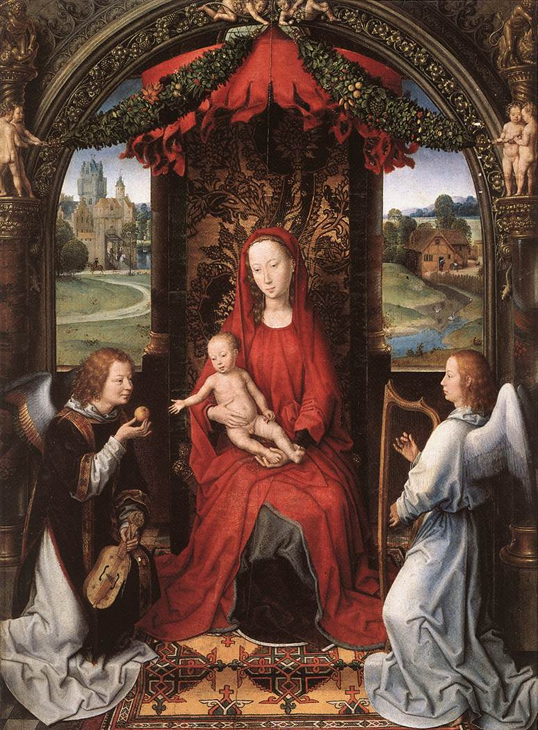 Madonna Enthroned with Child and Two Angels